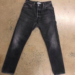 Re/done x Levis high-waist grey denim